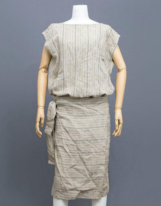 Issey-Miyake-Linen-Wrap-Dress-001