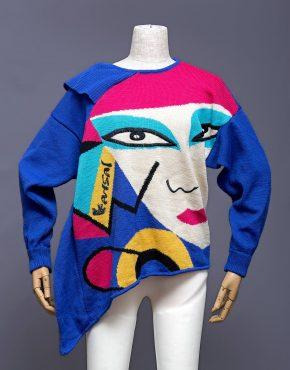 Kansai-Yamamoto-Asymmetrical-Face-Sweater-001