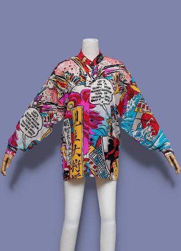 Kansai-Yamamoto-Comic-Print-Button-Up-Shirt-001