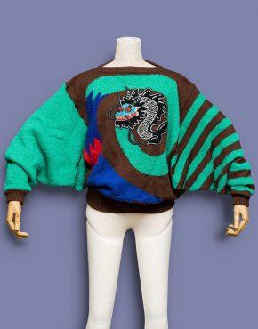 Kansai-Yamamoto-Dolman-Sleeve-Dragon-Sweater-001